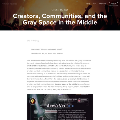 Creators, Communities, and the Gray Space in the Middle — Nichanan Kesonpat