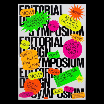 "Klasse Thomas | ABK-Stuttgart on Instagram: ""@piapheer Poster for today's ""Editorial Design Now Symposium"". Sadly it can't t..."
