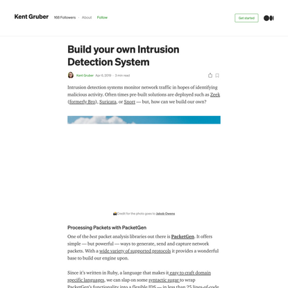 Build your own Intrusion Detection System