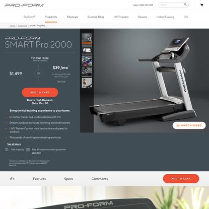 ProForm SMART Pro 2000 Treadmill   ProForm