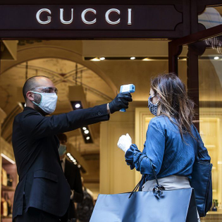 The present of luxury shopping