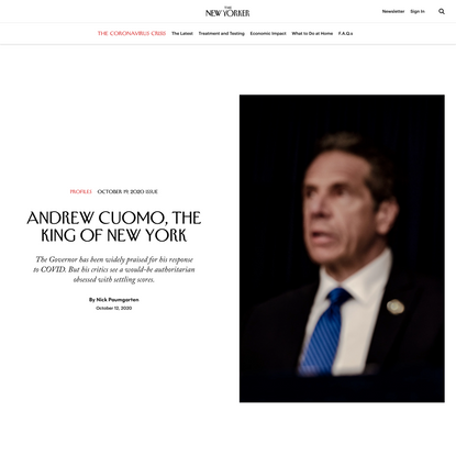 Andrew Cuomo, the King of New York