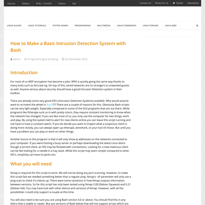 How to Make a Basic Intrusion Detection System with Bash - LinuxConfig.org