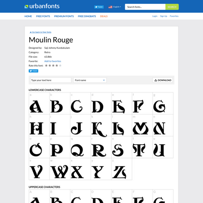 Free download: Moulin Rouge Font