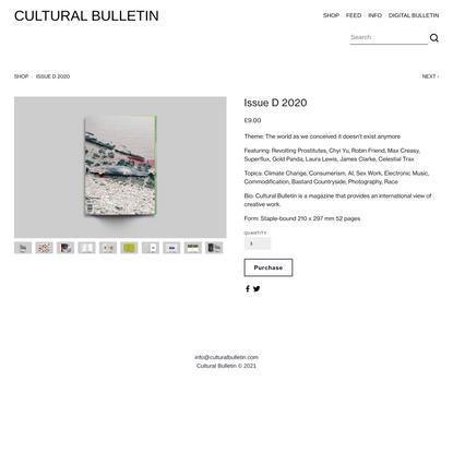 Cultural Bulletin Issue D 2020 — Cultural Bulletin