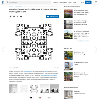 AI Creates Generative Floor Plans and Styles with Machine Learning at Harvard