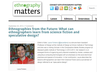 Ethnographies from the Future: What can ethnographers learn from science fiction and speculative design?