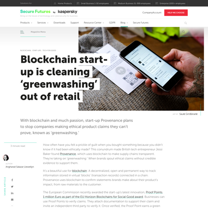 Blockchain start-up is cleaning 'greenwashing' out of retail