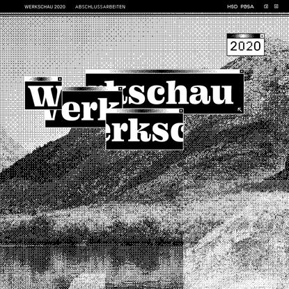 Werkschau Sommersemester 2020   Hochschule Düsseldorf