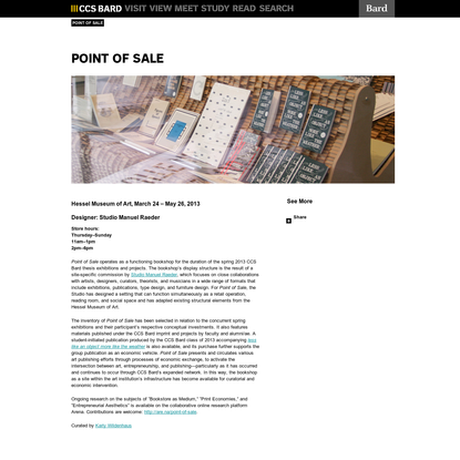 CCS Bard | Point of Sale