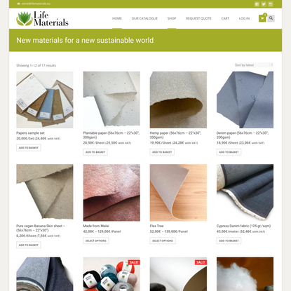 Life Materials – New materials for a new sustainable world