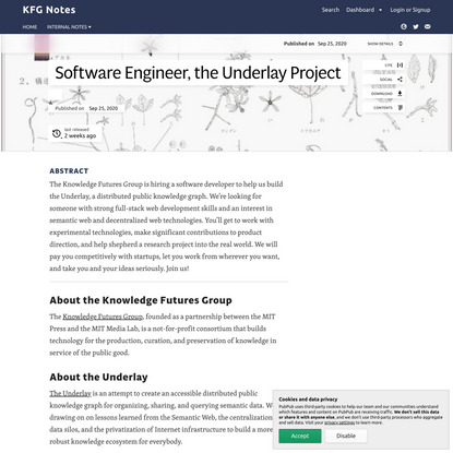 Knowledge Futures Group, Software Engineer