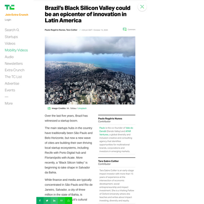 Brazil's Black Silicon Valley could be an epicenter of innovation in Latin America – TechCrunch