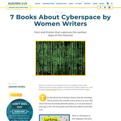7 Books About Cyberspace by Women Writers - Electric Literature
