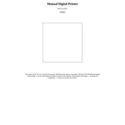 Manual Digital Printer