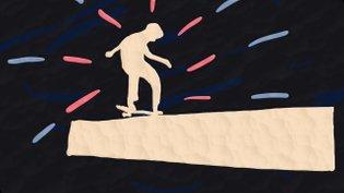 Animation Skateboard rotoscope