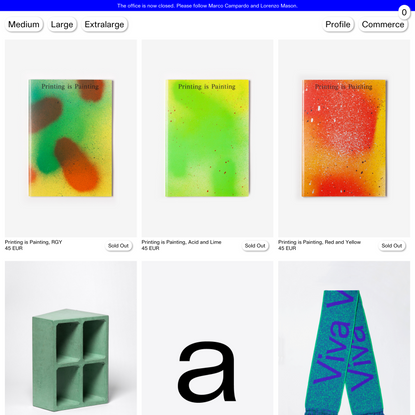 M–L–XL — Office for production and research across different disciplines