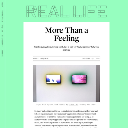 More Than a Feeling — Real Life