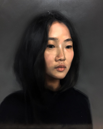 "Yeji Streppel on Instagram: ""self-portrait because narcissistic because millennial ✨ #oilonlinen #selfportrait"""