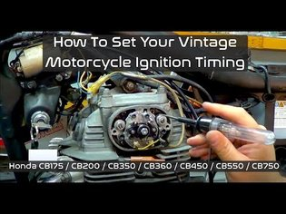 How To Set Ignition Timing On Honda CB350, CB360, CB450 And CB500T Family Of Motorcycles