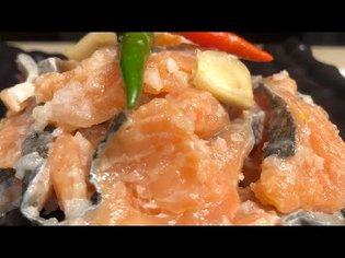 Lao Food: How I Make Som Pa Salmon | Sour Salmon