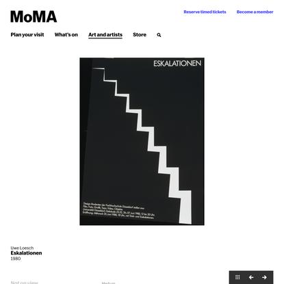 Uwe Loesch. Eskalationen. 1980 | MoMA