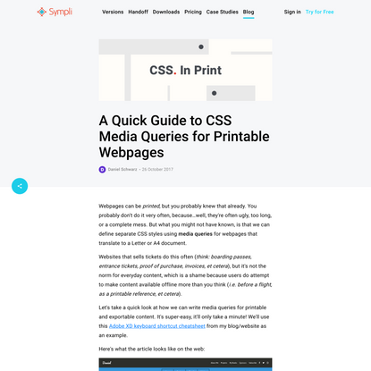 A Quick Guide to CSS Media Queries for Printable Webpages