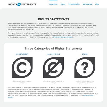 Rights Statements
