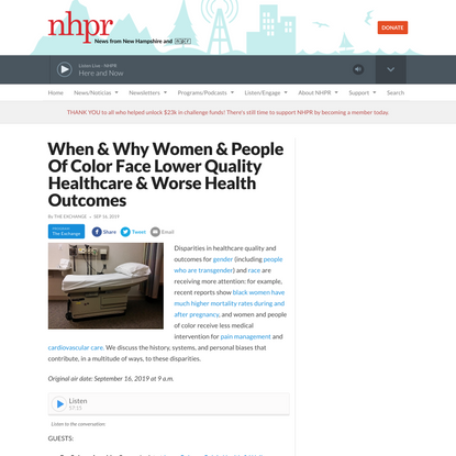When & Why Women & People Of Color Face Lower Quality Healthcare & Worse Health Outcomes