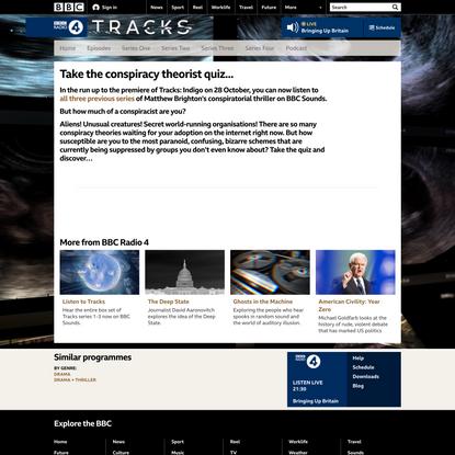 BBC Radio 4 - Tracks - Take the conspiracy theorist quiz...
