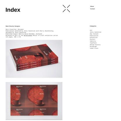 Mark Cleverly: Designer - Index
