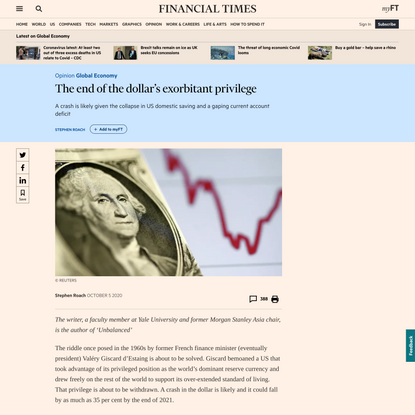 The end of the dollar's exorbitant privilege