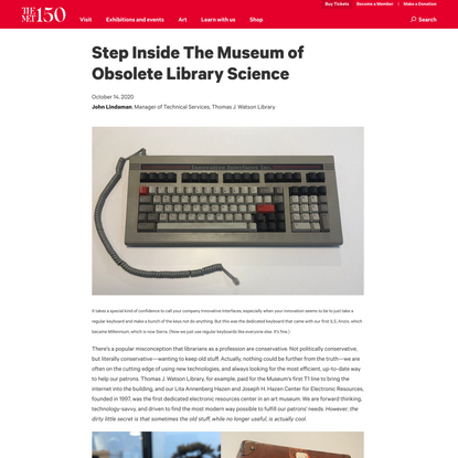 Step Inside The Museum of Obsolete Library Science