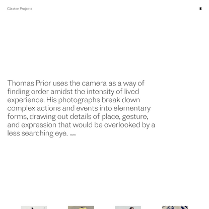 Claxton Projects - Thomas Prior