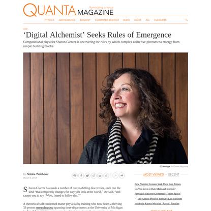 'Digital Alchemist' Seeks Rules of Emergence   Quanta Magazine