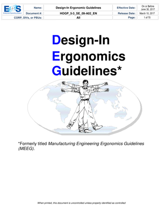 Ergonomics Guidelines Manual
