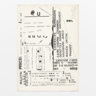 Henri Chopin, Flyer for Revue Ou *scoring* *speaking* *sounding*