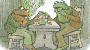 frog and toad eating cookies
