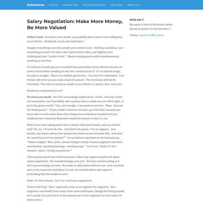 Salary Negotiation: Make More Money, Be More Valued   Kalzumeus Software