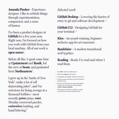 Amanda Pinsker | Designer