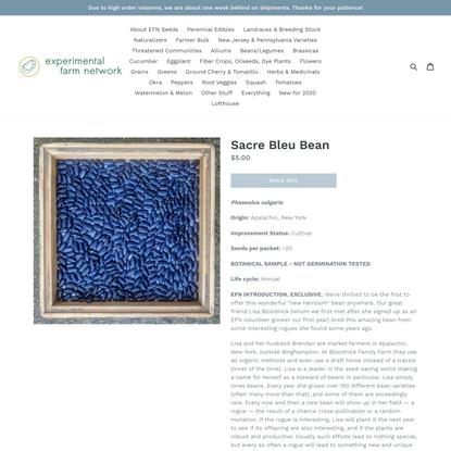 Sacre Bleu Bean
