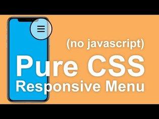 Responsive Pure CSS Menu Tutorial (No Javascript)