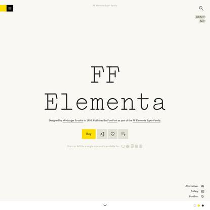 FF Elementa Font