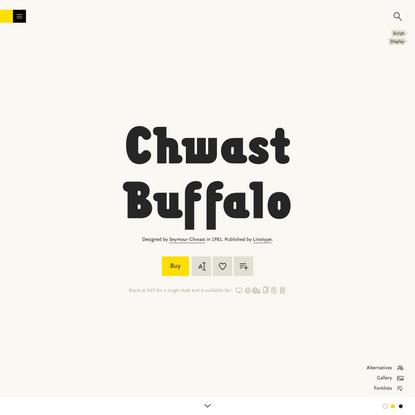 Chwast Buffalo Font