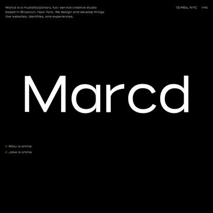 Marcd | Multidisciplinary Creative studio