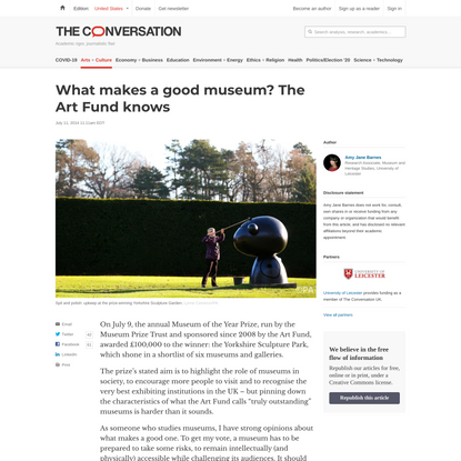 What makes a good museum? The Art Fund knows