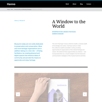 A Window to the World – Hanno