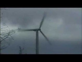 Windmill destructed in storm