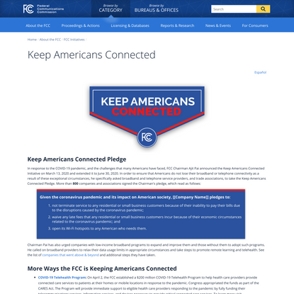 Keep Americans Connected