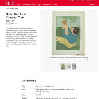Mary Cassatt | Under the Horse Chestnut Tree | The Met